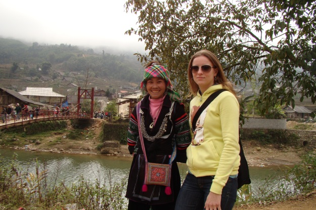 Co, our Sapa tour guide, and I after the second hike.