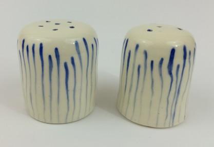 blue stripe salt and pepper