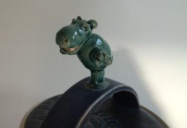 prancing hippo detail