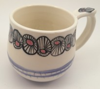 Underglaze painted mug