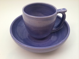 Purple bowl and cup for Little Bone