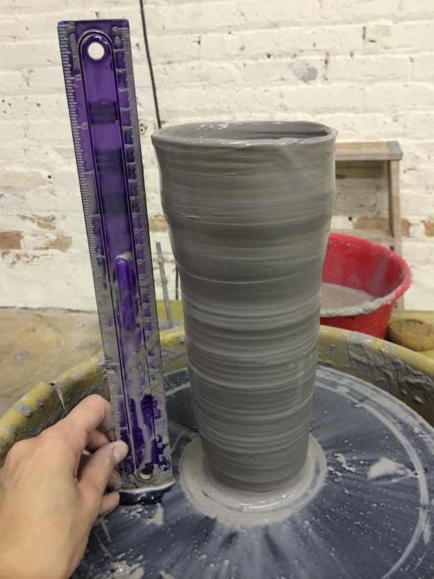 First attempt at a foot-tall cylinder.