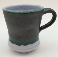 Burnished Steel and Blueberry Mug