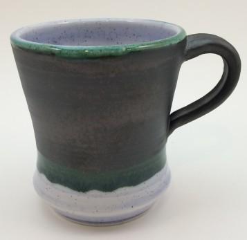 Burnished Steel and Blueberry Mug