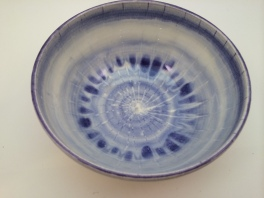 White and Purple Bowl