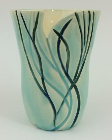 Seafoam Green Vase
