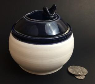 midnight blue lid jar