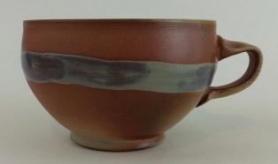 cappuccino mug with stripe 1